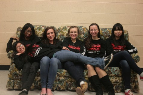 The Flash Staff 2015: Tylah Fortson, Emily Drumm, Amy Weed, Laurel Kraus, Carmen Yan, and Angel Bacol (laying down)