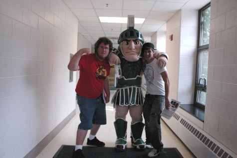 Summer MIPA Camp Editors Aaron Hamel, Sparty, and Kyle Snarski