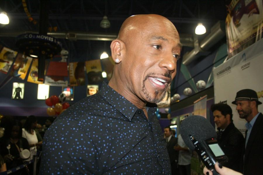 Montel Williams at the Detroit Premiere of Golden Shoes.