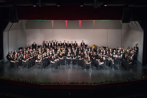 Concert band at their holiday performance in December 2015