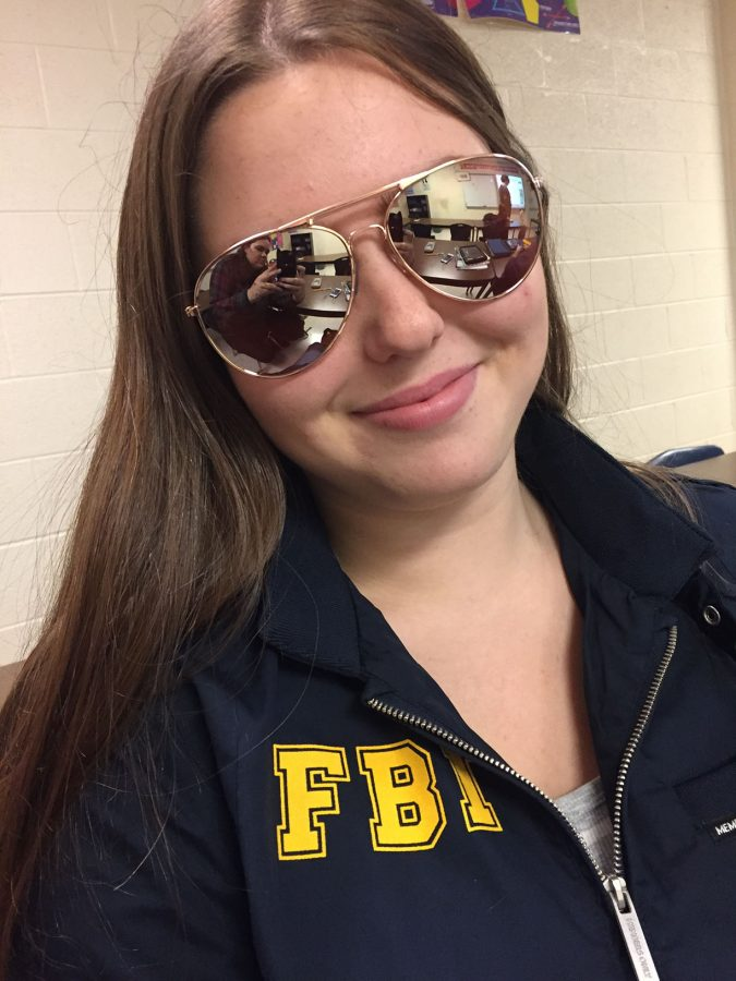 Senior Marybeth Stanziola took advantage of Halloween being on a school day. She dressed as one of her favorite characters from NBC's Parks and Recreation, Burt Macklin.