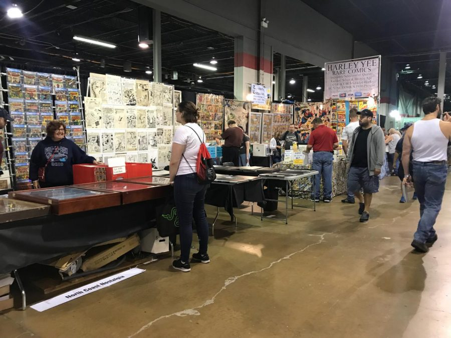 These booths are just some of the memorabilia sold at Comic Cons.