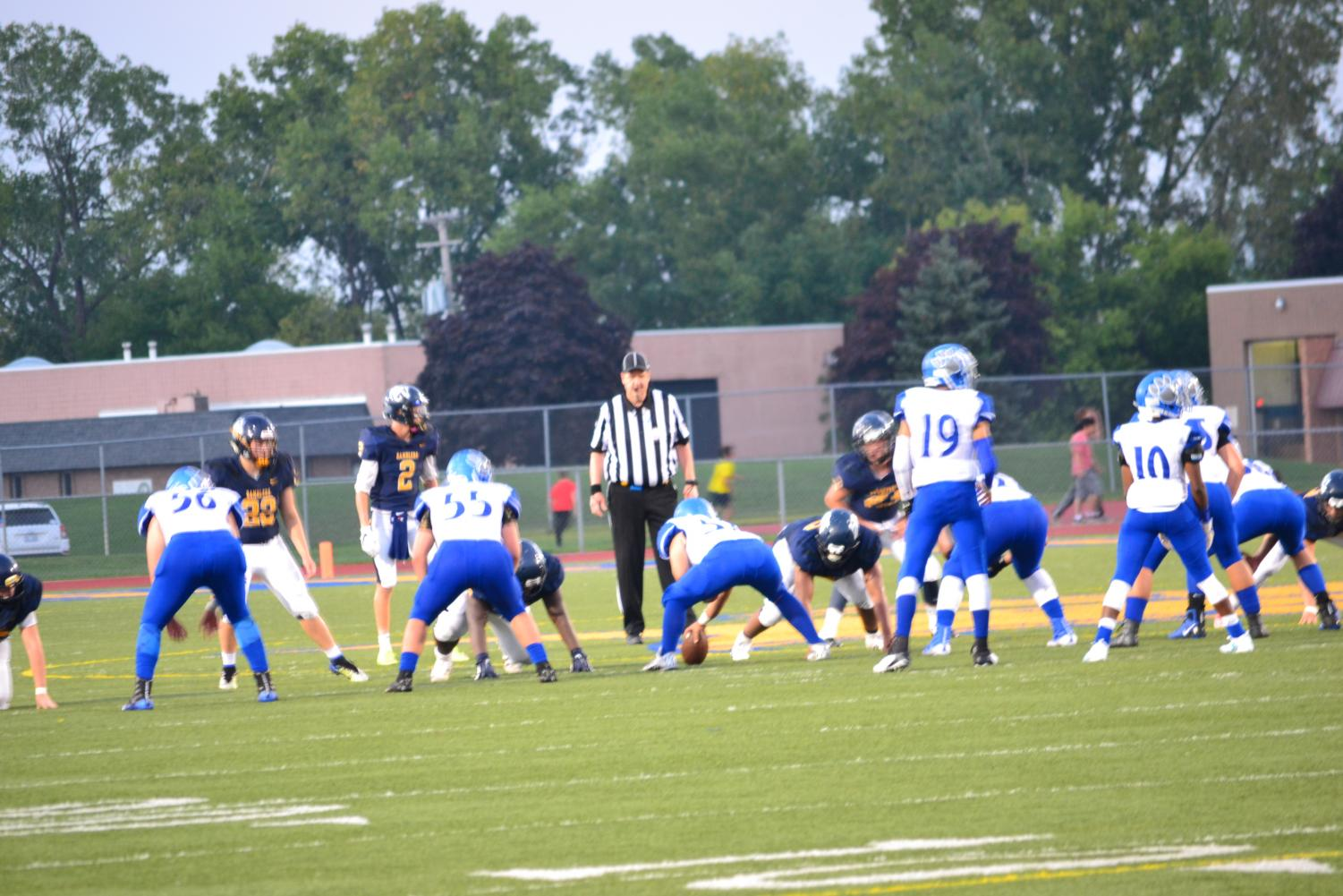 Lakeview High's offense on the field in a 24-6 win over the Ramblers in week 4 of the regular season on September 14th, 2018