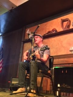 Ryan Dillaha performing at The Gaelic League in Detroit.
