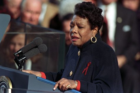 "Maya Angelou reciting her poem ""On the Pulse of Morning"" at the 1993 Presidential Inauguration of William J. Clinton. U.S. Capitol, Washington, D.C. January 20, 1993. (William J. Clinton Presidential Library and Museum)"