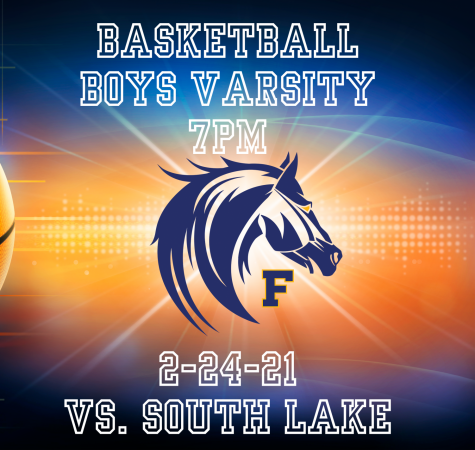 Fraser Basketball Boys Varsity vs. South Lake 7PM 2-24-21