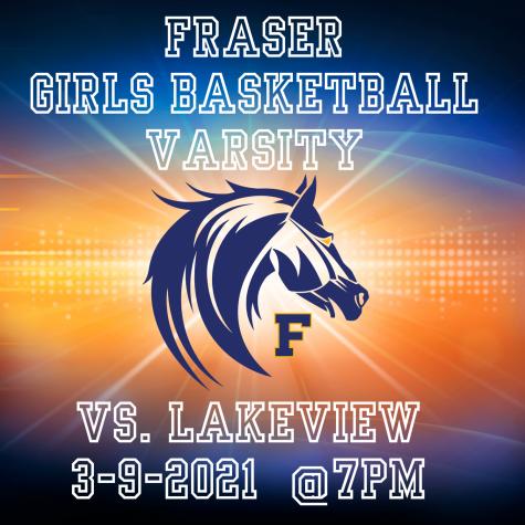 Basketball Girls Varsity vs. Lakeview 7PM 3-9-21