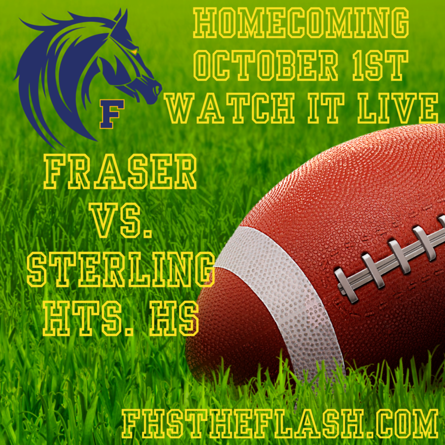 Varsity Football vs. Sterling Hts. Homecoming Game 10-1-21 7PM